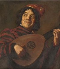 the lute player by johannes van der linde