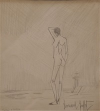 femme nue de dos by bernard buffet
