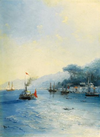 shipping on the bosphorus constantinople by ivan konstantinovich aivazovsky
