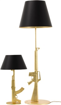 flos table gun lamp and floor gun lamp (set of 2) by philippe starck