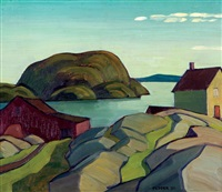the fish-house, lake superior by george douglas pepper