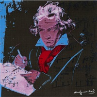 beethoven pink by andy warhol