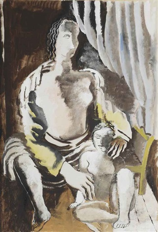 mother and child by ossip zadkine