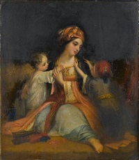 mother and children by henry william pickersgill