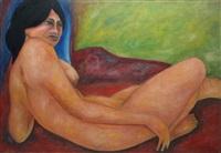 nudo di donna distesa by aldo nava