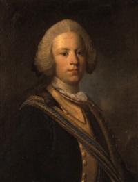 porträtt av anders reinhold wrangel som ung fänrik by olof arenius