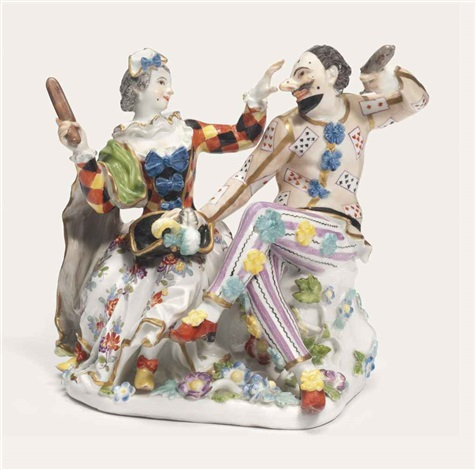 harlequin and columbine by johann joachim kändler