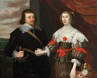 portrait of a gentleman and his wife by anglo-dutch school (17)