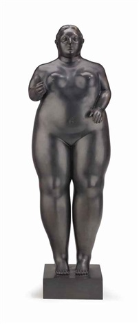 standing woman by fernando botero