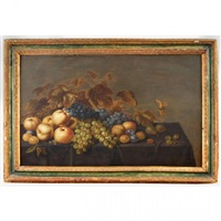 grapes, quinces, plums and pears on a tabletop by roelof koets the elder