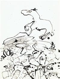 terrain au cheval i by jean dubuffet