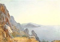 capri mit dem arco naturale by carl morgenstern