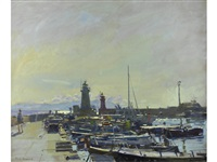 morning light, porto del giglio by ken howard