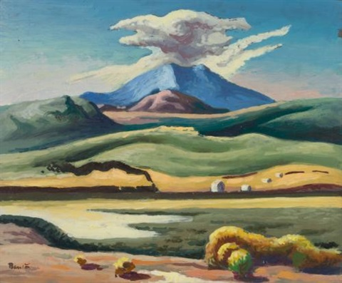 landscape with train by thomas hart benton