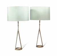compas table lamps (pair) by felix agostini