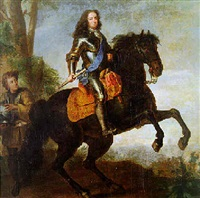 equestrian portrait of a nobleman by herman hendrik quiter