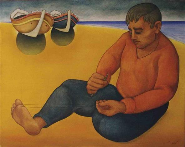 fisherman in arwad by louay kayyali