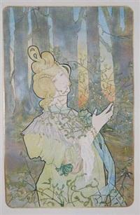 jeune femme au gui (poster) by jane atche