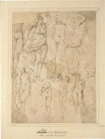 studies after the antique a dancing nude verso by domenico ghirlandaio