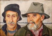 studium dwóch mężczyzn by vlastimil hofmann