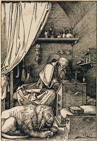 saint jerome dans sa cellule by albrecht dürer