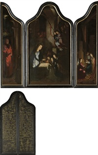 the adoration of the angels (triptych) by gerard david