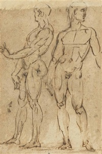 two nude men standing by baccio bandinelli
