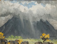 clouds over croagh patrick by mabel young