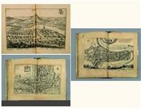 topographia helvetiae, rhaetiae et valesiae... (bk w/75 works and frontispiece) by matthäus merian