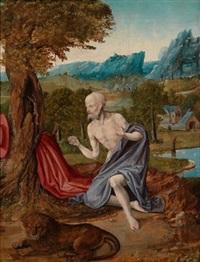 der heilige hieronymus in der wüste by joachim patinir