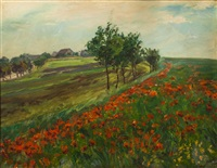 landschaft mit klatschmohn by frantisek kavan
