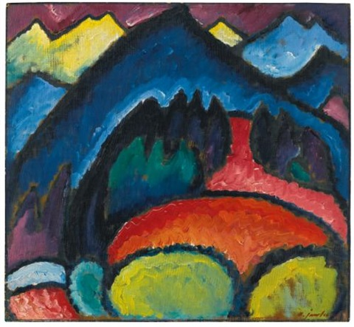 oberstdorf (gebirge) (oberstdorf - mountains) by alexej jawlensky