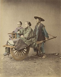 japanese workers (pair) by raimund von (baron) stillfried-rathenitz