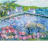 les hortensias roses (the pink hydrangeas) by yolande ardisonne