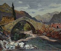 corse, pont génois by pierre bach
