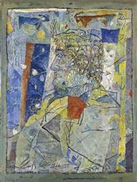 portrait of fateh moudarres by abdullatif smoudi