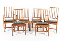 dining chairs (after peter waals) (set of 6) by ernest william gimson