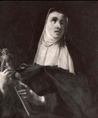 ritratto di suora con crocefisso by giuseppe angeli
