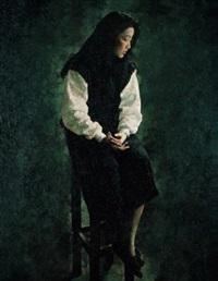 静坐的女子 by lin yongkang