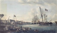 a view of the royal dockyard at deptford by robert dodd