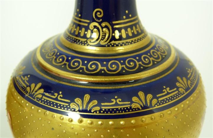 pair of fine franz dörfl vienna austria porcelain