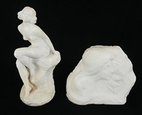 girl with flower, carved by adolphy
