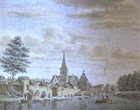 vue de canal en hollande by pieter jan van liender