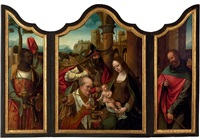 the adoration of the magi (triptych) by master of the antwerp adoration