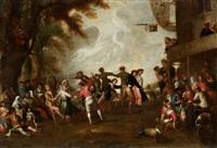 danse de paysans by cornelis de wael