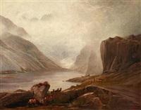 lac en ecosse by gustave doré