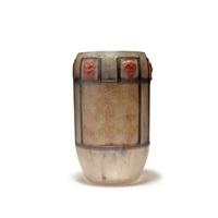 vase pan et satyres by gabriel argy-rousseau