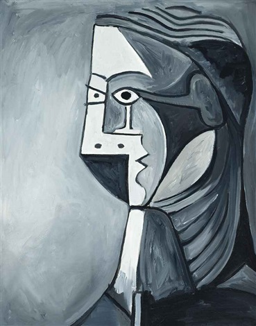 not picasso womans head in black white by mike bidlo
