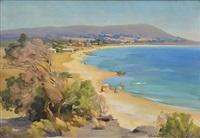 beach scene by ernest william buckmaster