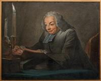 portrait de l'abbé jean-jacques huber by maurice quentin de la tour